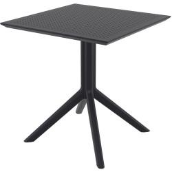 Sky Indoor Outdoor Cafe Table UV Stabilised Polypropylene 740Hx700Wx700Dmm Black