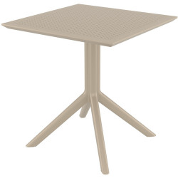 Sky Indoor Outdoor Cafe Table UV Stabilised Polypropylene 740Hx700Wx700Dmm Taupe
