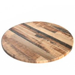 Round Table Top Only For Indoor or Outdoor Use Size 600Dmm Rustic Kansas Finish