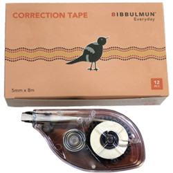 Bibbulmun Correction Tape 5mmx8m Pack of 12