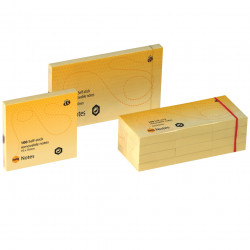 Marbig Repositionable Notes 40mmx50mm 100 Sheets per pad Yellow Pack of 12