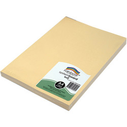 Rainbow System Board A4 150gsm Buff Pack of 100