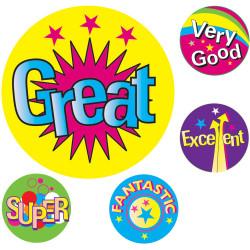 Avery Merit Stickers Multi Captions 19mm Pk200