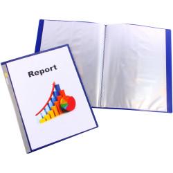 Bantex Insert Display Book A4 20 Fixed Pockets Navy