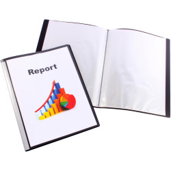 Bantex Insert Display Book A4 40 Fixed Pockets Black