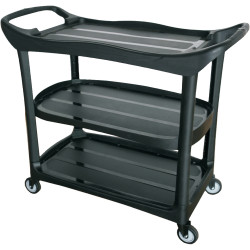 Compass 3 Shelf Utility Cart Black Assembly required