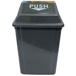 Cleanlink Rubbish Bin with Bullet Lid 40 Litres Grey