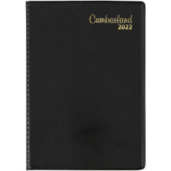 Cumberland Pocket Diary Week To View A7 Black