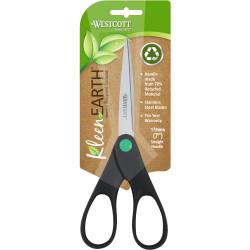 Westcott KleenEarth Scissors 178mm Straight Handle Black