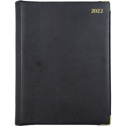 Debden Elite Manager Diary Day To A Page 260X190mm Black