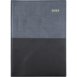 Collins Vanessa Diary 2 Days To A Page A4 Black