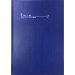 Collins Kingsgrove Diary 2 Days To A Page A5 Blue