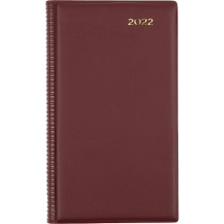 Collins Belmont Diary Day To A Page Octavo Burgundy