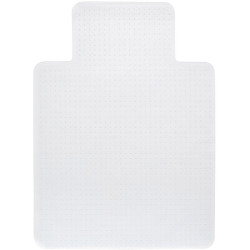 Chair Mat For Carpet Floor Dimpled Base Keyhole Shape 120cmLx91.5cmW Frosted