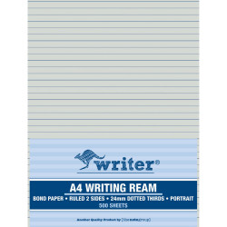 Writer A4 Exam Paper 24mm Dotted Thirds Portrait Ream of 500
