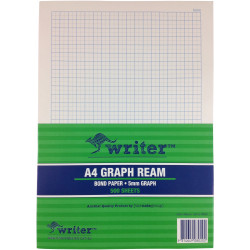 WRITER A4 EXAM PAPER 5mm Graph Portrait Ream of 500