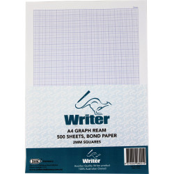 WRITER A4 EXAM PAPER 2mm Graph Portrait Ream of 500
