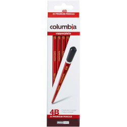 Columbia Copperplate Pencil Hexagon 4B Pack Of 20
