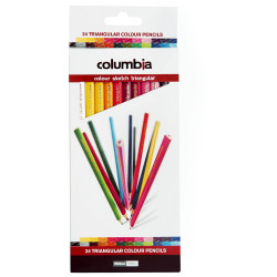 Columbia Coloursketch Coloured Pencil Triangular Assorted Pack Of 24