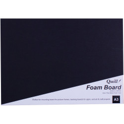 Quill Foam Board A3 Black Pack of 5