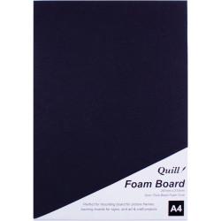 Quill Foam Board A4 Black Pack of 5