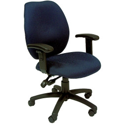 Sabina High Back Task Chair With Arms Moulded Foam Blue Pattern Fabric