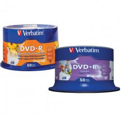 Verbatim Recordable DVD-R 120Min 4.7GB 16X Printable Inkjet Pack of 50 White