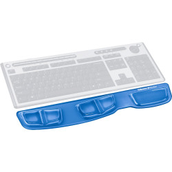 FELLOWES KEYBOARD PALM SUPPORT Gel Clear - Blue