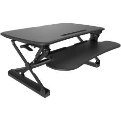 Sylex Arise Deskalator Sit Stand Unit Top 890Wx580mmD Suits Dual Monitor Black