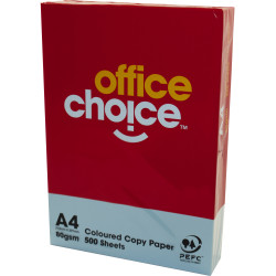 Office Choice Copy Paper Tinted A4 80gsm Blue Ream of 500