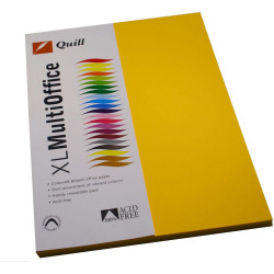Quill Colour Copy Paper A4 80gsm Sunshine Pack of 100