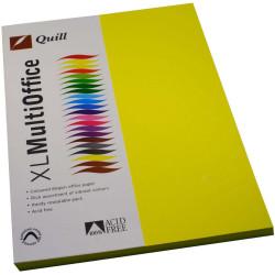 Quill Colour Copy Paper A4 80gsm Lemon Pack of 100