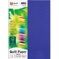 Quill Colour Copy Paper A4 80gsm Royal Blue Ream of 500