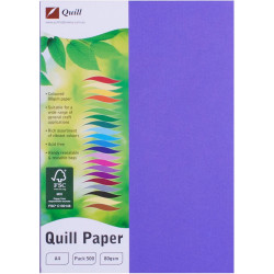 Quill Colour Copy Paper A4 80gsm Lilac Ream of 500