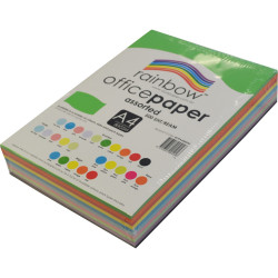 Rainbow Office Copy Paper A4 80gsm Assorted Ream of 500