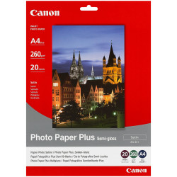 Canon Sg201 A4 260Gsm Semi-Gloss Photo Paper Pack of 20