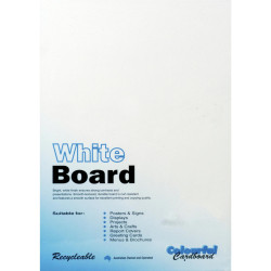 Colourful Days Whiteboard A3 200gsm White Pack Of 50