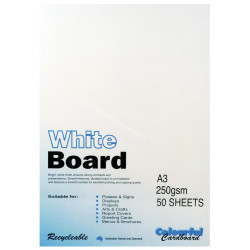 Colourful Days Whiteboard A3 250gsm White Pack Of 50
