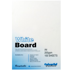 Colourful Days Whiteboard A4 200gsm White Pack Of 100