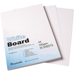 Colourful Days Whiteboard A4 250gsm White Pack Of 50