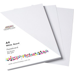 Colourful Days Pasteboard 510x640mm 250gsm White Pack Of 100