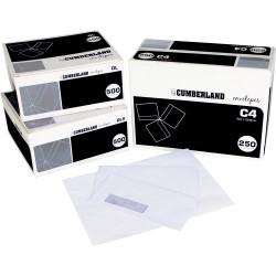 Cumberland Envelope Laser C4 Strip Seal Window Face Secretive White Box Of 250