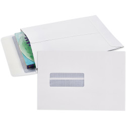 Cumberland Envelope Expandable 245x162mm Strip Seal Window Face White Pack Of 25