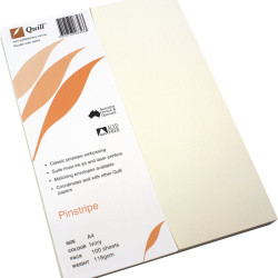 Quill Pinstripe Paper A4 118gsm Ivory Pack of 100