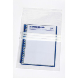 Cumberland Press Seal Plastic Bags Write On 305 x 460mm 50 Micron Pack of 100