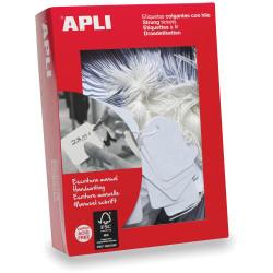 Apli 383 Strung Tickets 7x19mm White Box Of 1000
