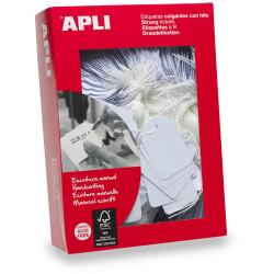 Apli 387 Strung Tickets 13x20mm White Box Of 1000
