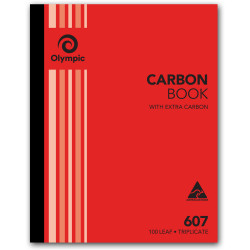 Olympic 607 Carbon Book Triplicate 250mmx200mm Record 100 Leaf