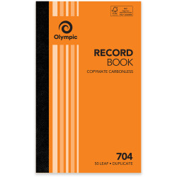 Olympic 704 Carbonless Book Duplicate 200x125mm Record 50 Leaf