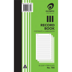 Olympic 705 Carbonless Book Triplicate 200x125mm Record 50 Leaf